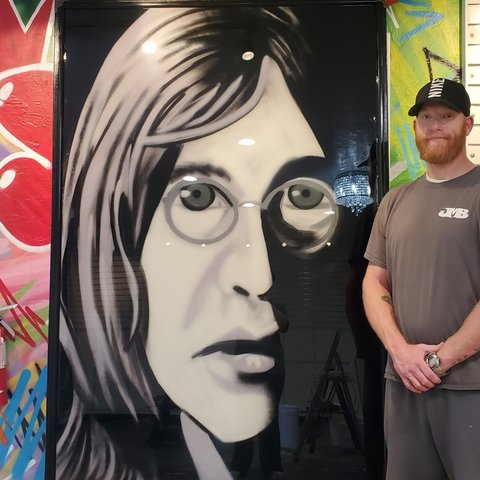 Lennon, 6' x 4', L Painting, One Of A Kind, Hand Made
