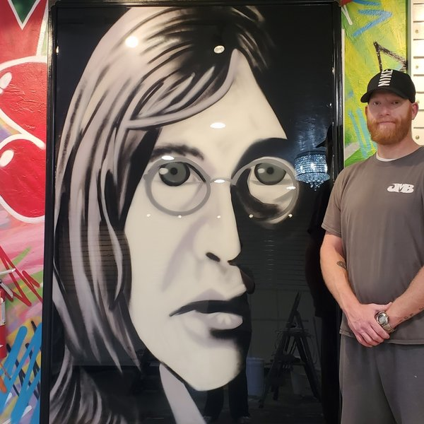 Finished Lennon, 6' x 4', L Painting, One Of A Kind, Hand Made