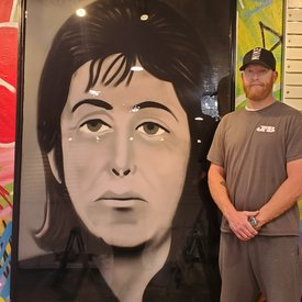 Finished McCartney, 6' x 4', L Painting, One Of A Kind, Hand Made