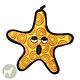 VIP Pet Products Tuffy Sea Creature Starfish