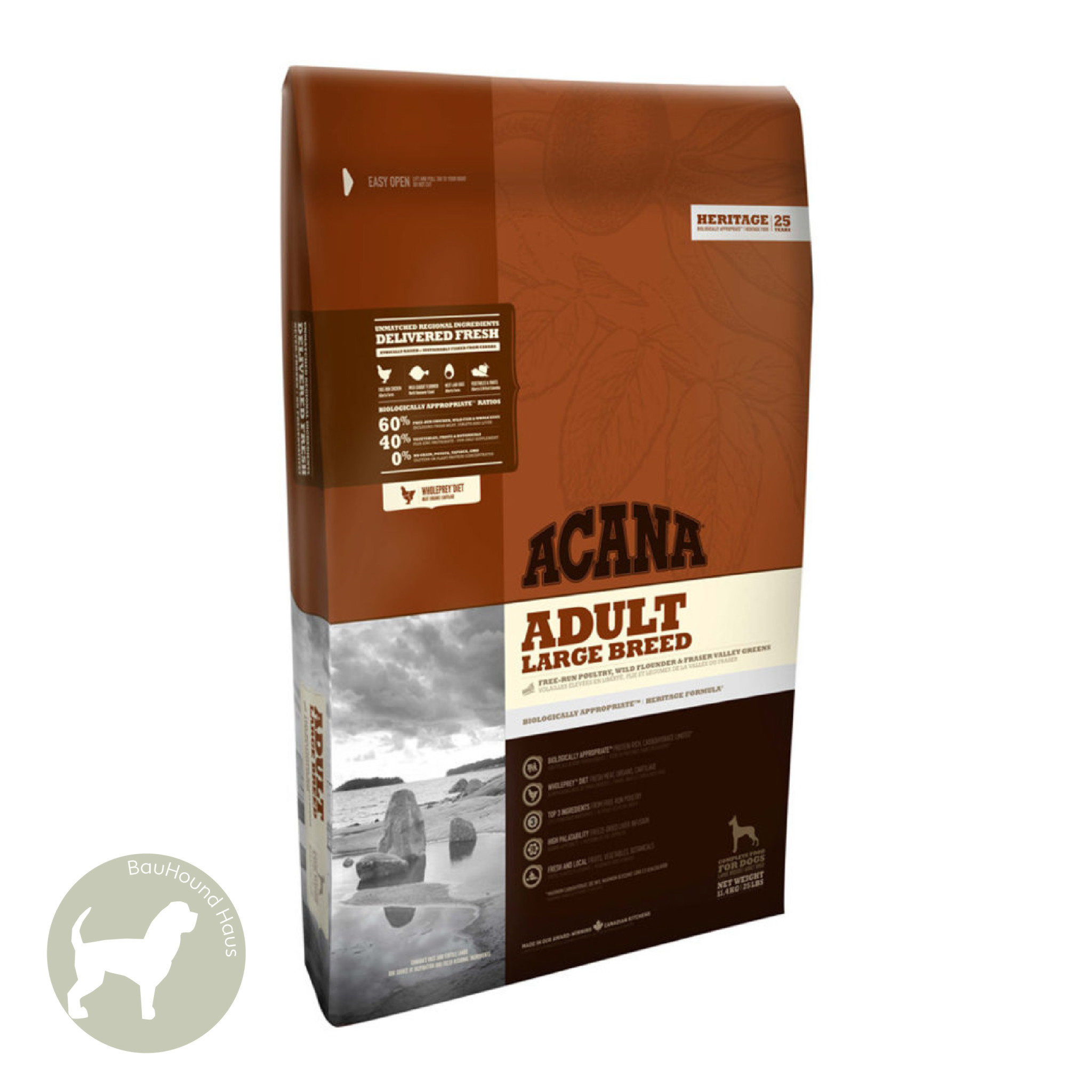 Acana Acana HERITAGE Large Breed Adult Kibble, 17kg