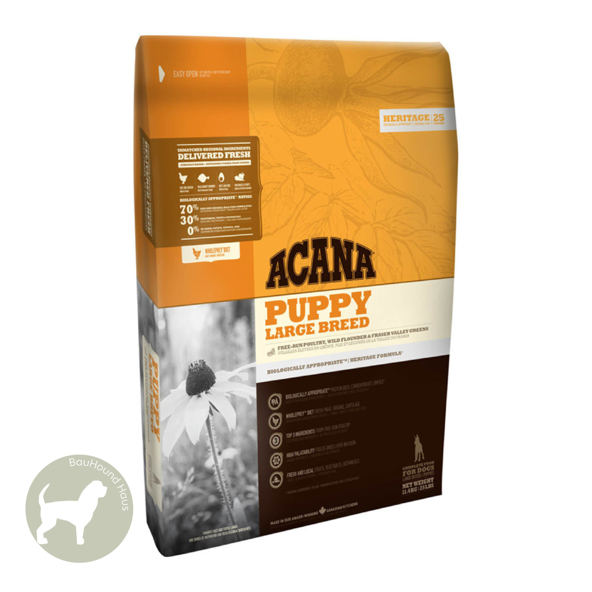 Acana Acana HERITAGE Large Breed Puppy Kibble, 11.4kg