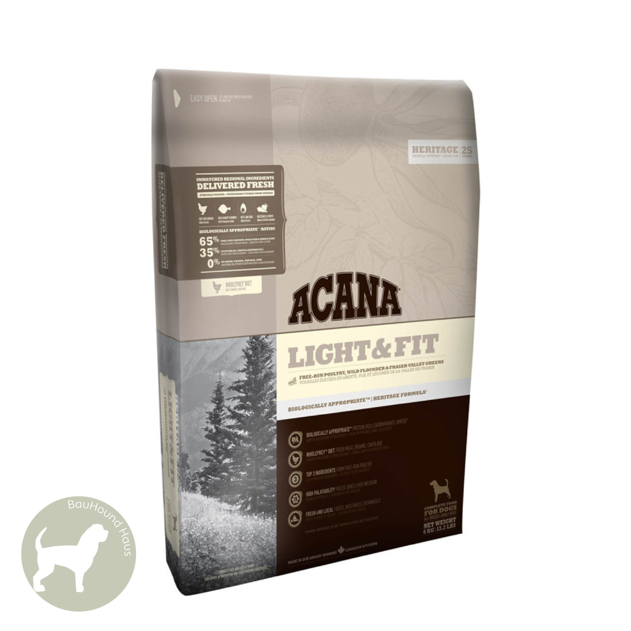 Acana Acana HERITAGE Light & Fit Kibble, 6kg