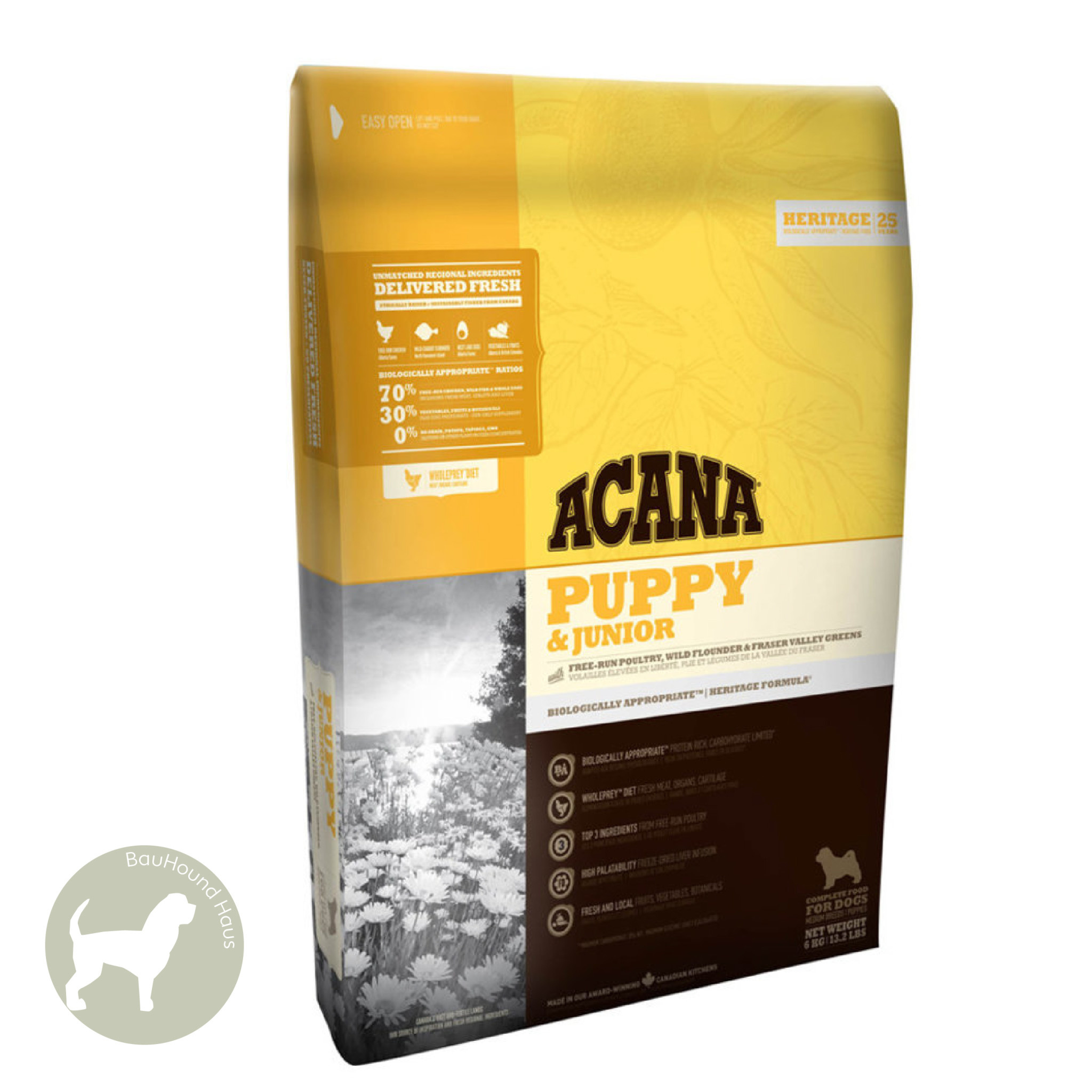 Acana Acana HERITAGE Puppy & Junior Kibble, 11.4kg