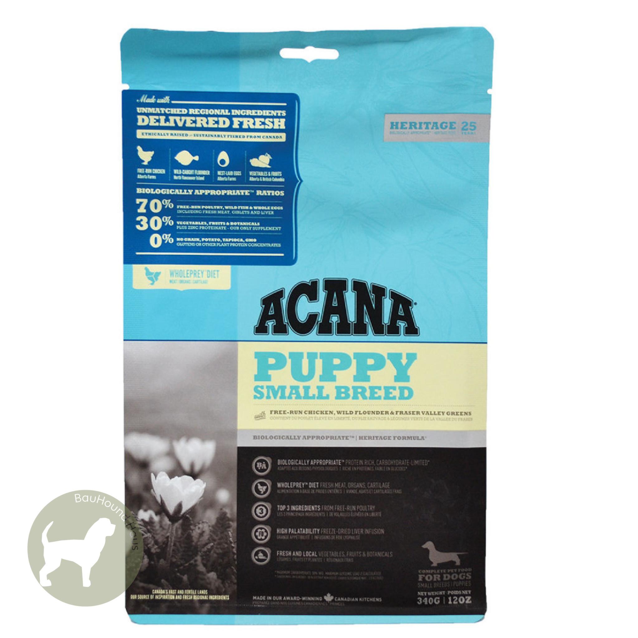 Acana Acana HERITAGE Puppy Small Breed Kibble, 1.8kg