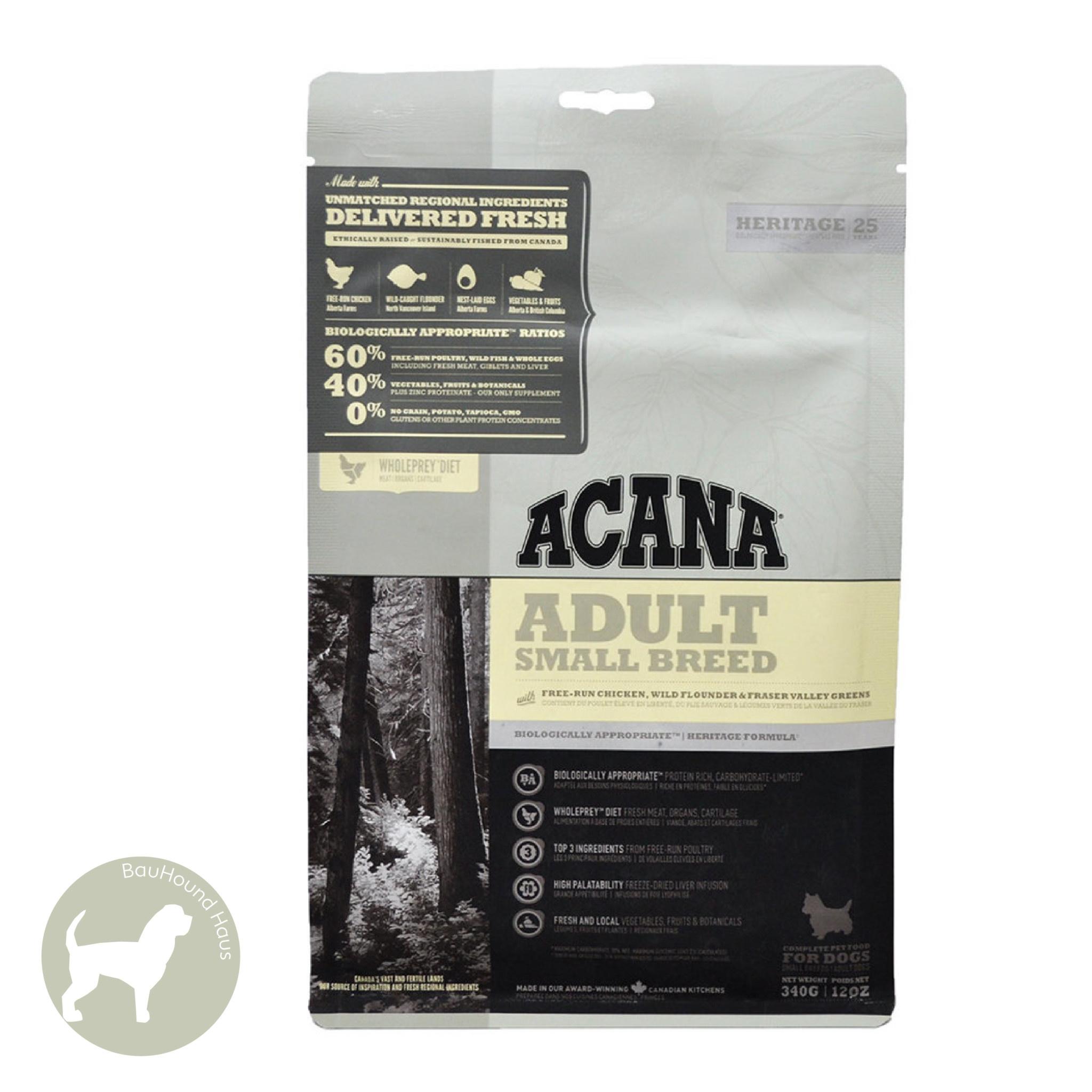 Acana Acana HERITAGE Small Breed Adult Kibble, 2kg