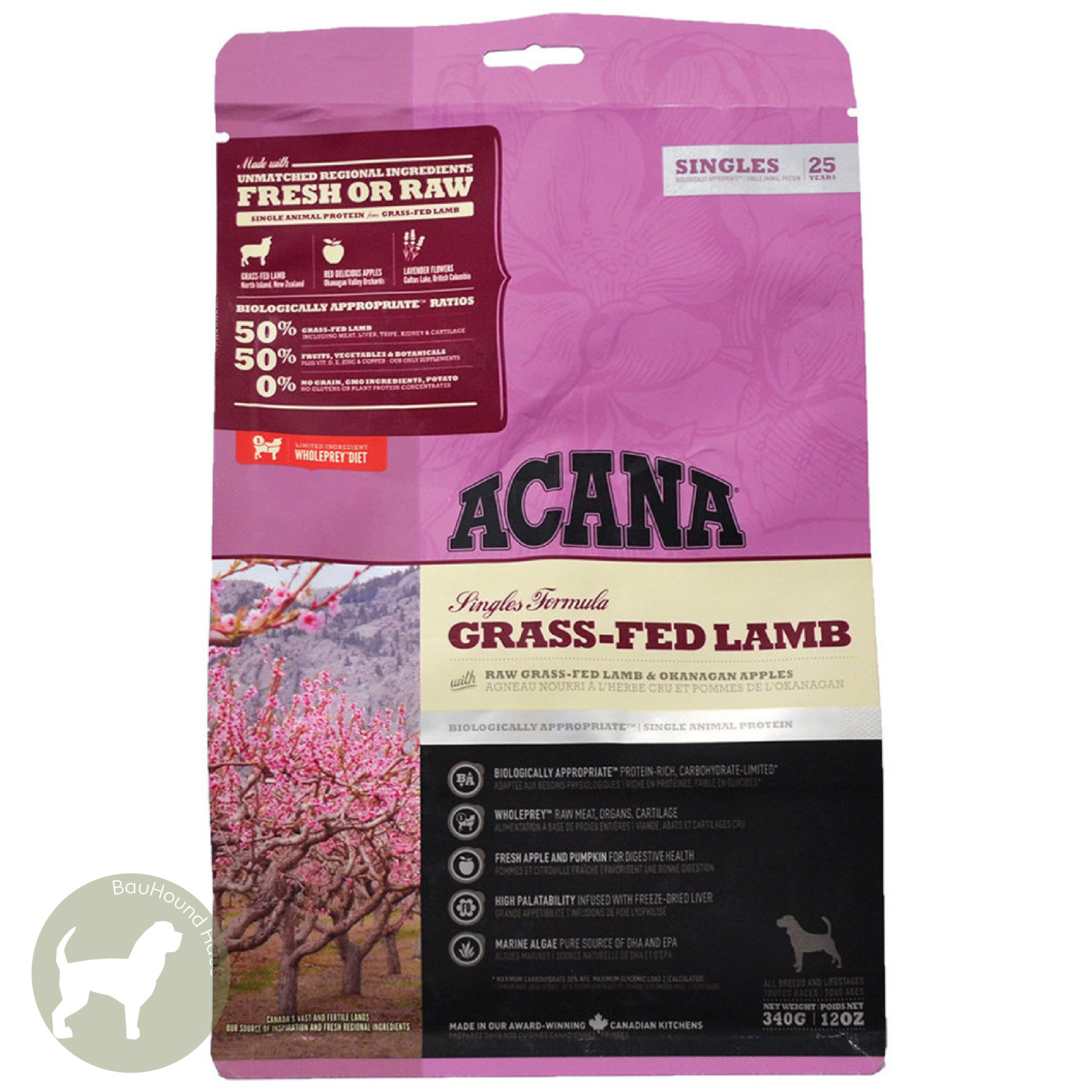 Acana Acana SINGLES Grain Free Grass Fed Lamb Kibble, 1.8kg