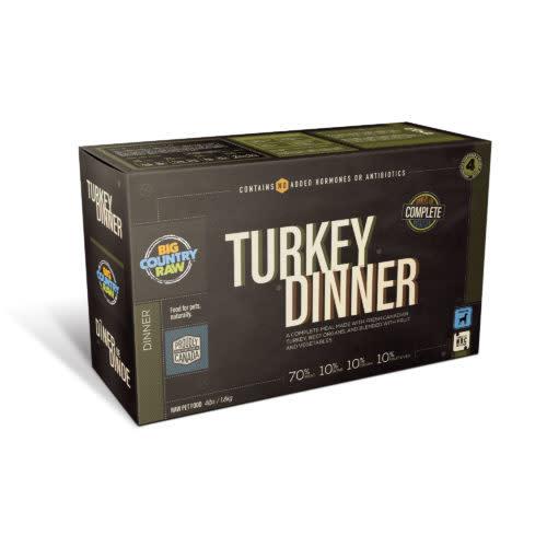 Big Country Raw Big Country Raw Turkey Dinner, 4 x  1lb Carton                         v