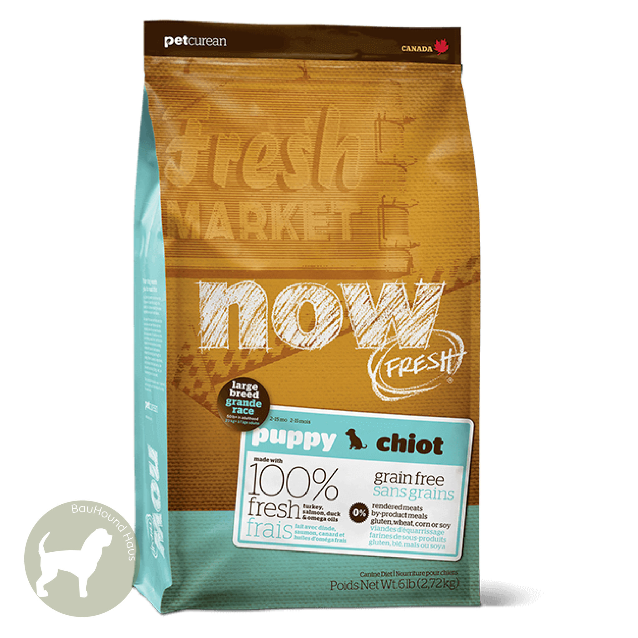 Now! Now! Fresh Large Breed Puppy Kibble, 25lb