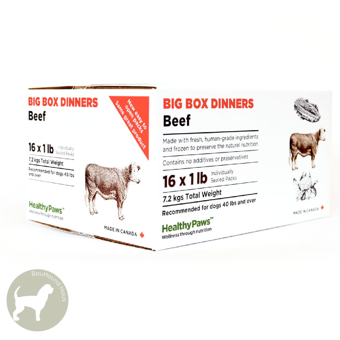 Healthy Paws Healthy Paws Big Box Dinner Beef, 16lb