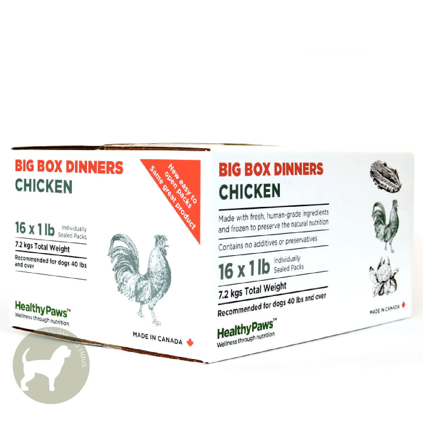 Healthy Paws Healthy Paws Big Box Dinner Chicken, 16lb