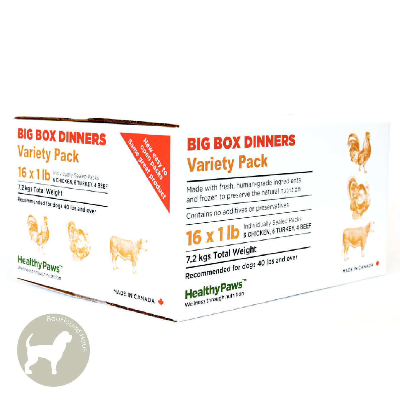 Healthy Paws Healthy Paws Big Box Dinner Variety, 16lb