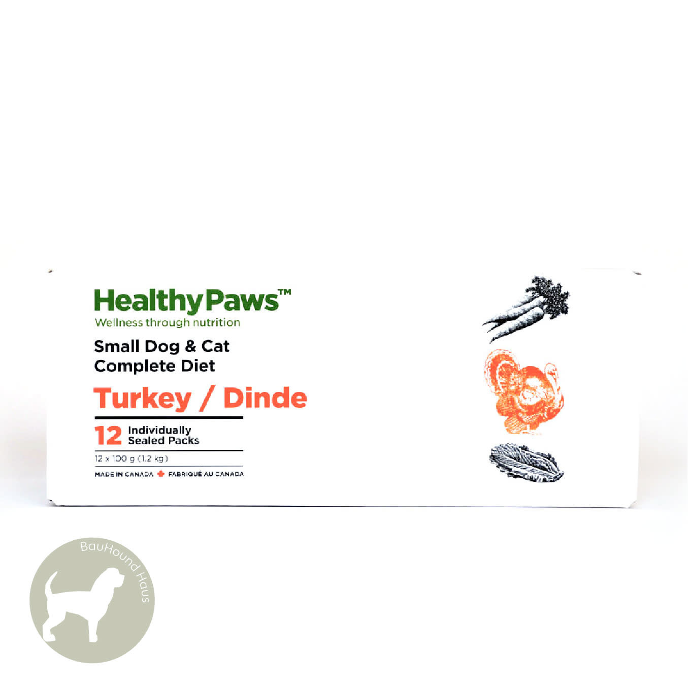 Healthy Paws Healthy Paws Dog & Cat Turkey Complete Pattties, 2.65lb