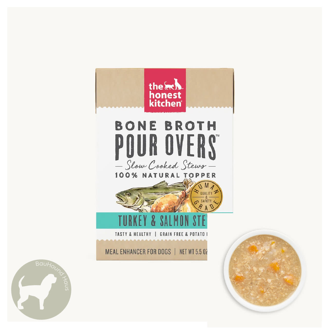 Honest Kitchen Honest Kitchen Pour Overs Turkey & Salmon Stew Bone Brorth, 5.5oz