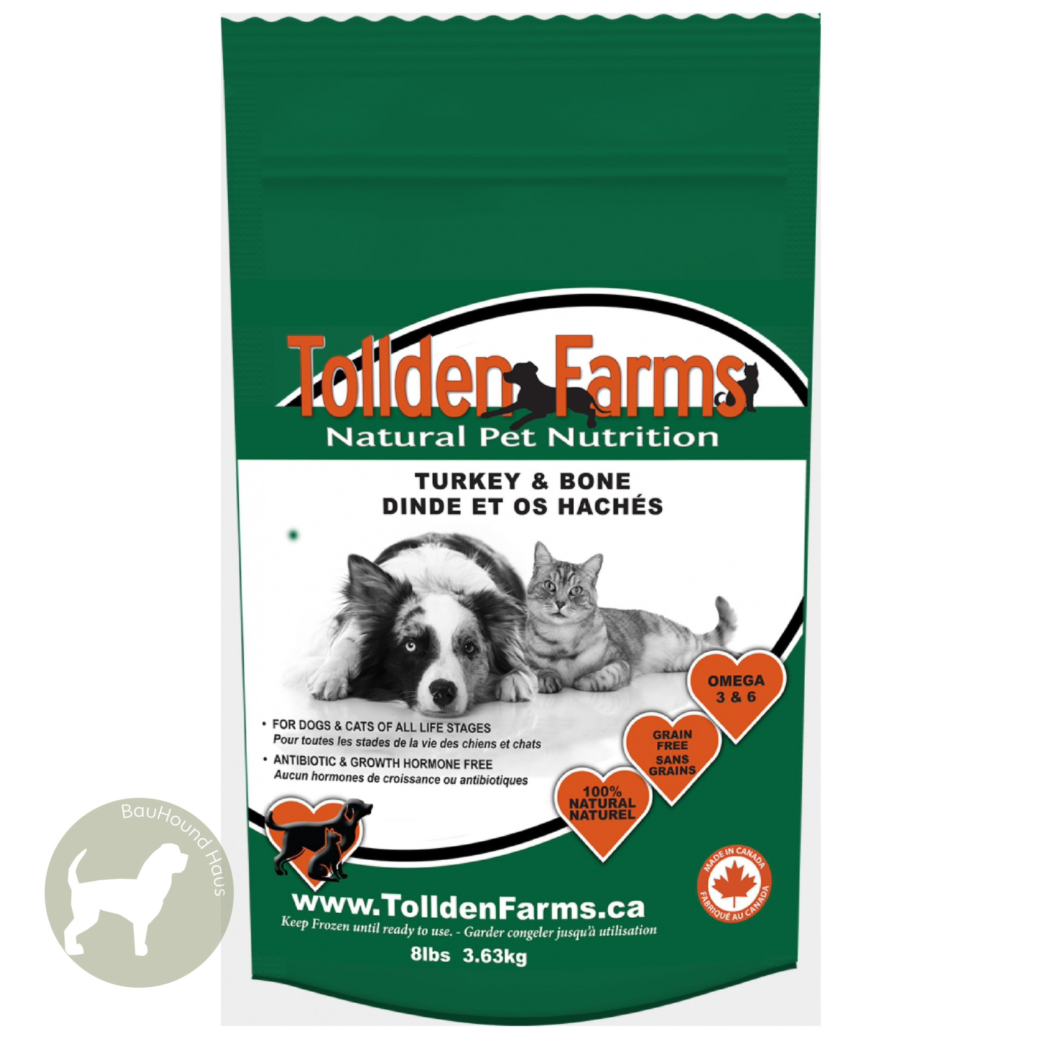Tollden Farms Tollden Farms Meat & Bone Turkey Patties, 8lb