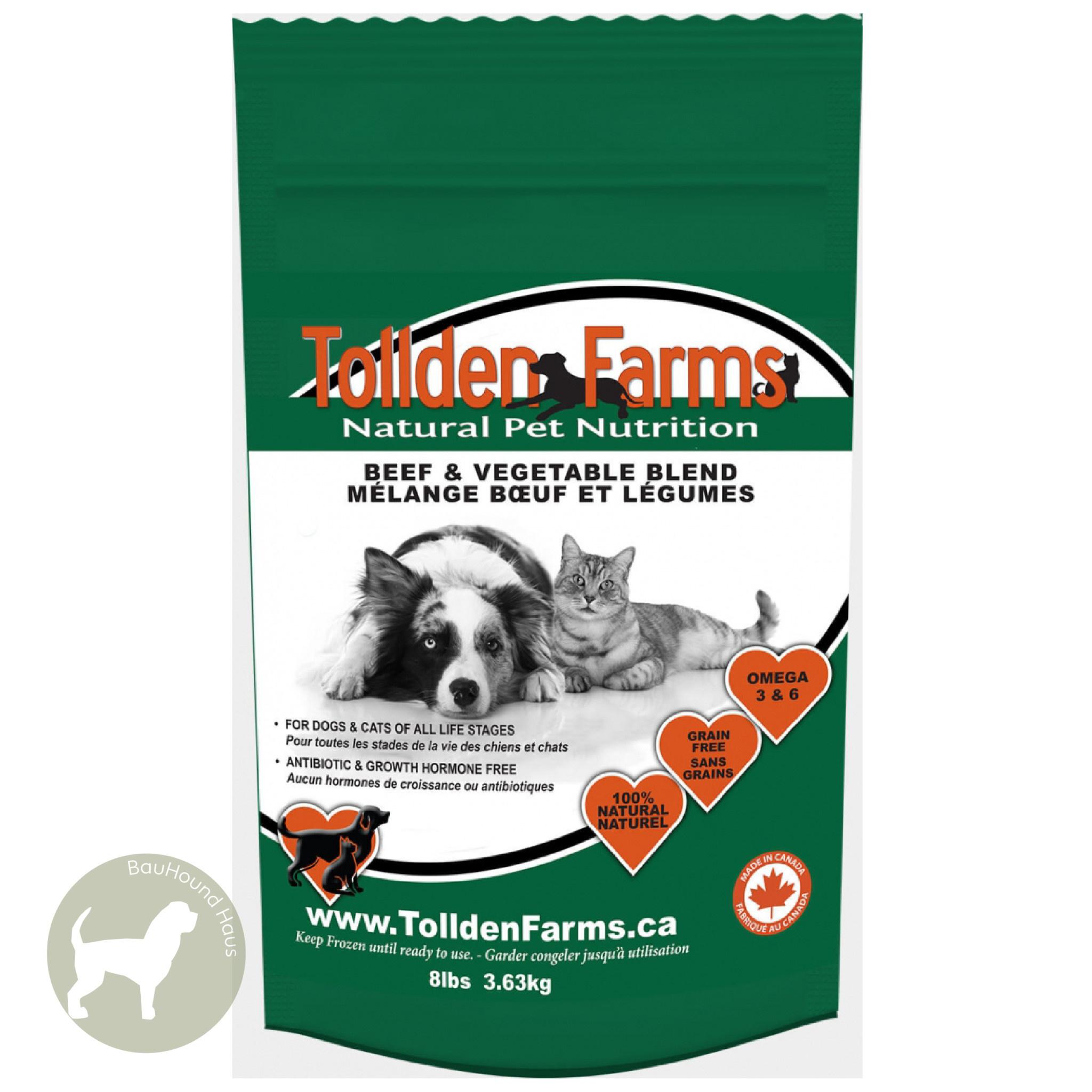 Tollden Farms Tollden Farms Meat & Veggies Beef Patties, 8lb