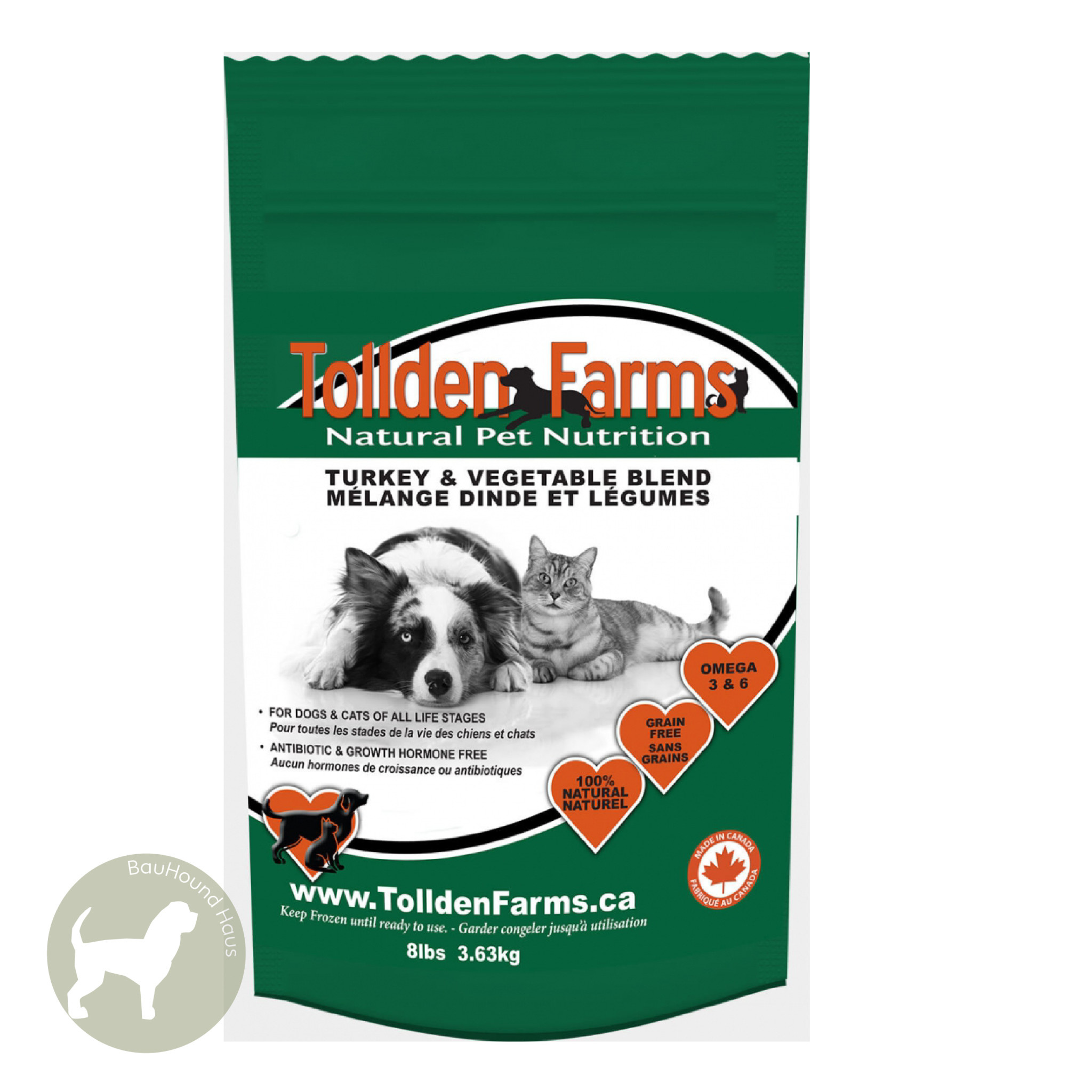 Tollden Farms Tollden Farms Meat & Veggies Turkey Patties, 3lb
