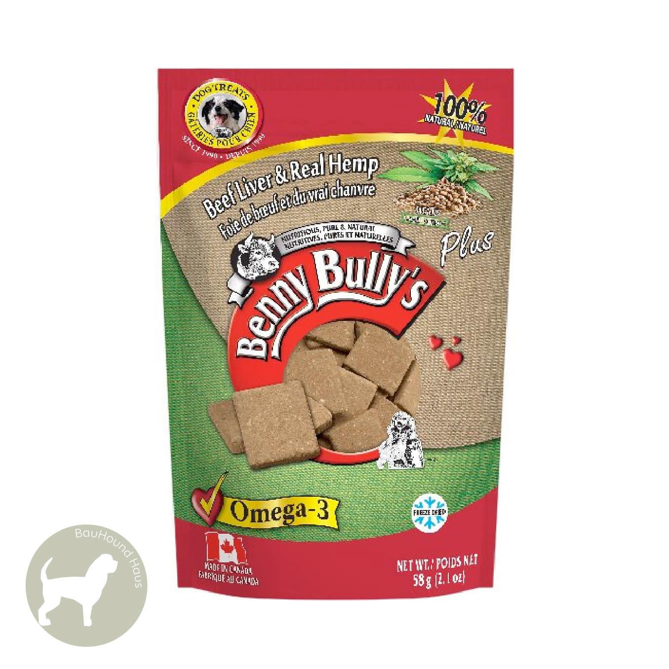 Benny Bully's Benny Bully's Beef Liver Plus Hemp Treats, 58g
