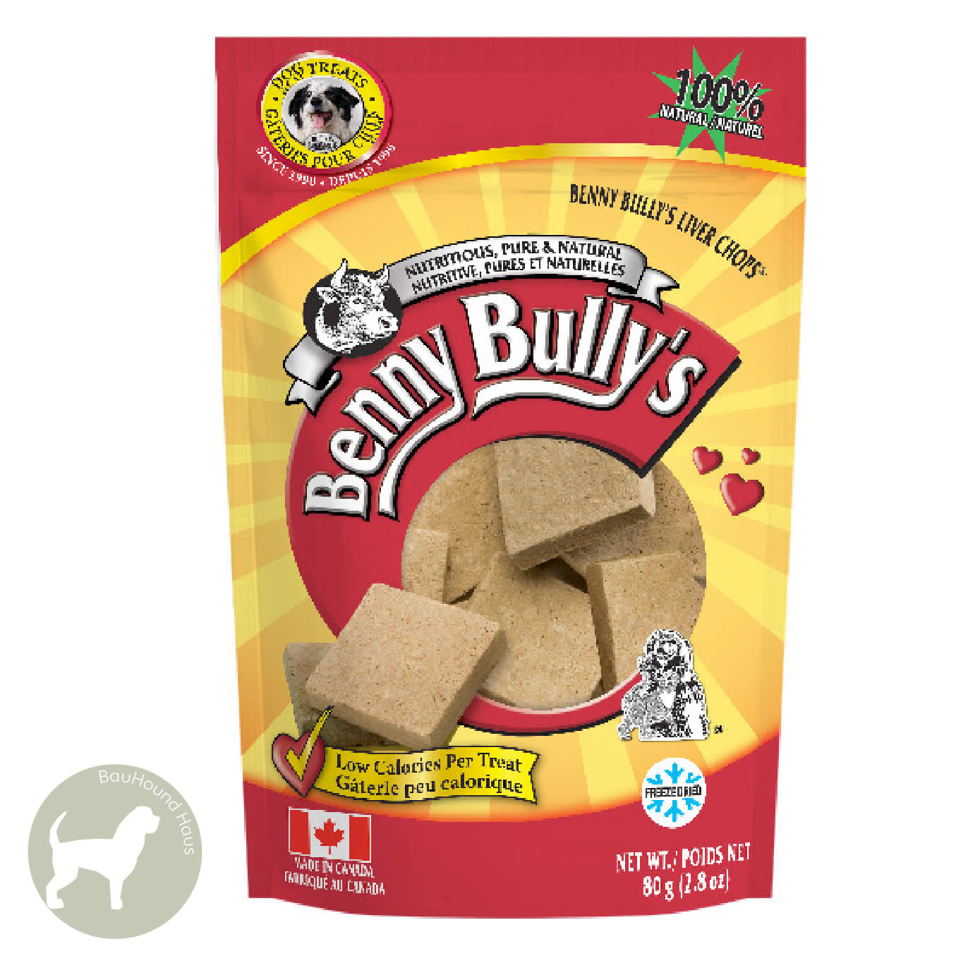 Benny Bully's Benny Bully's Beef Liver Treats, 80g