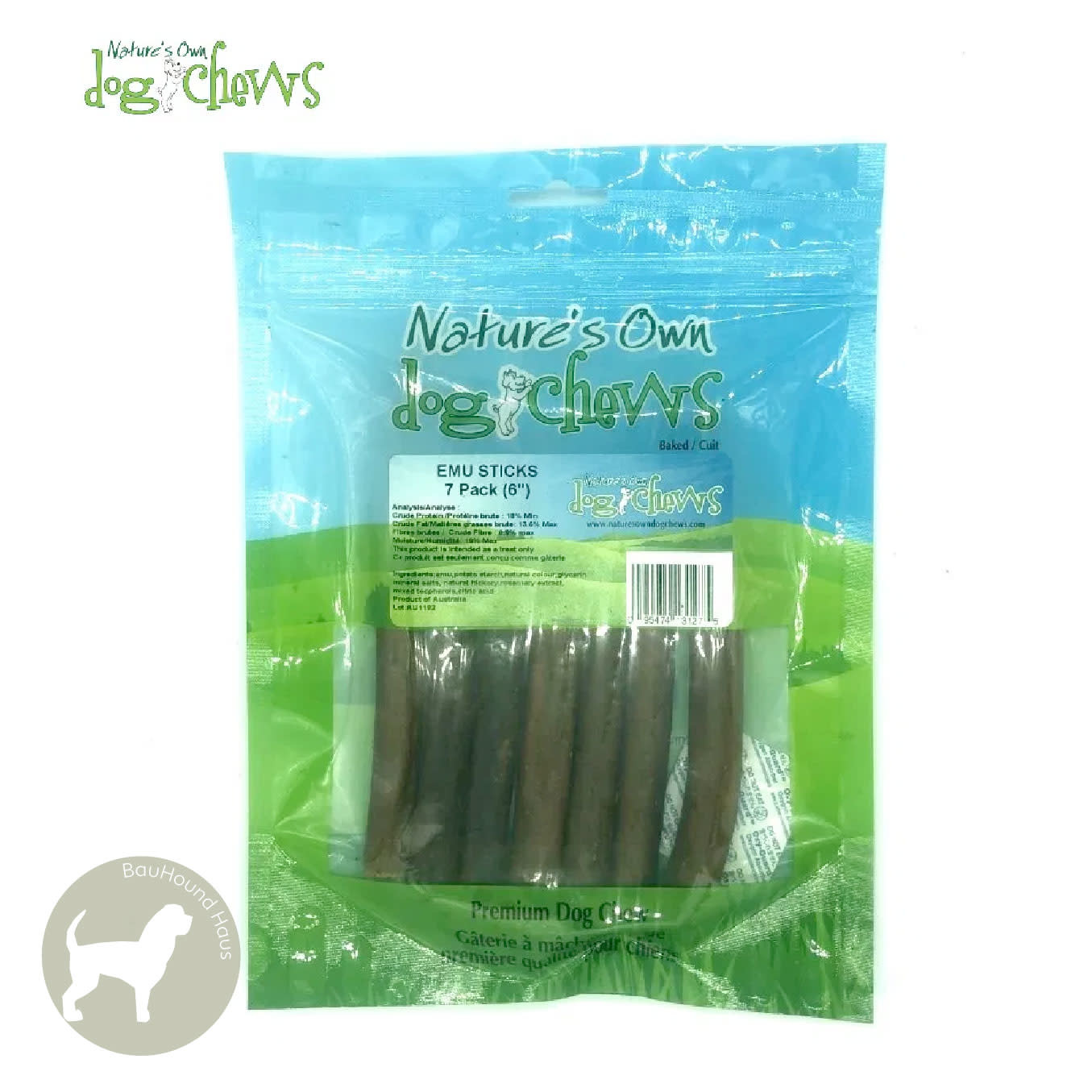 Nature's Own Nature's Own Emu Chew Sticks, 7-Pack