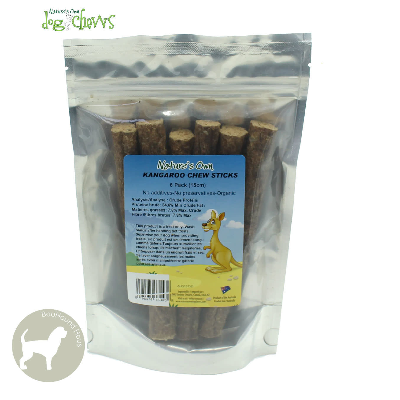 Nature's Own Nature's Own Kangaroo Chew Sticks, 6-Pack