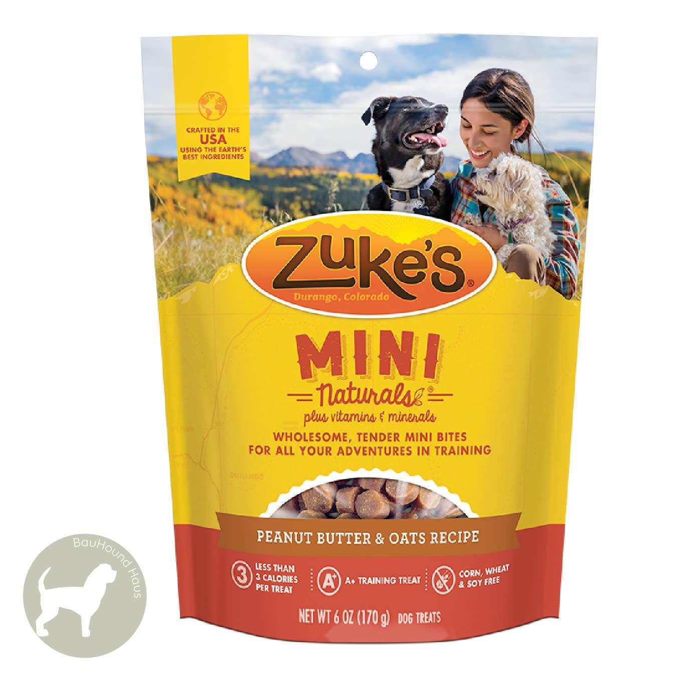 Zukes Zukes Mini Naturals Peanut Butter Treats, 6oz