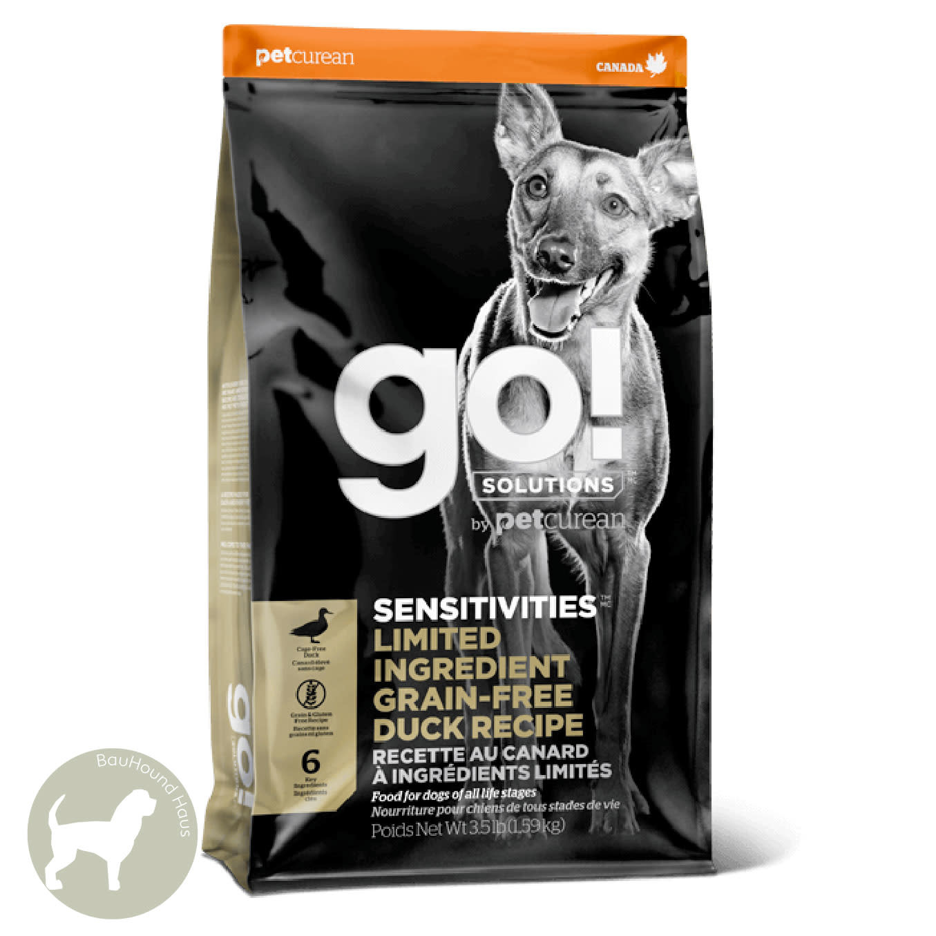 Go! Go! Sensitivities Limited Ingredient Grain-Free Duck Kibble, 22lb