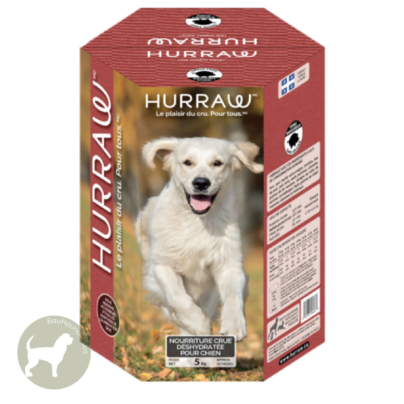 Hurraw Hurraw Dehydrated Raw Dog Food Tasty Pork, 5kg