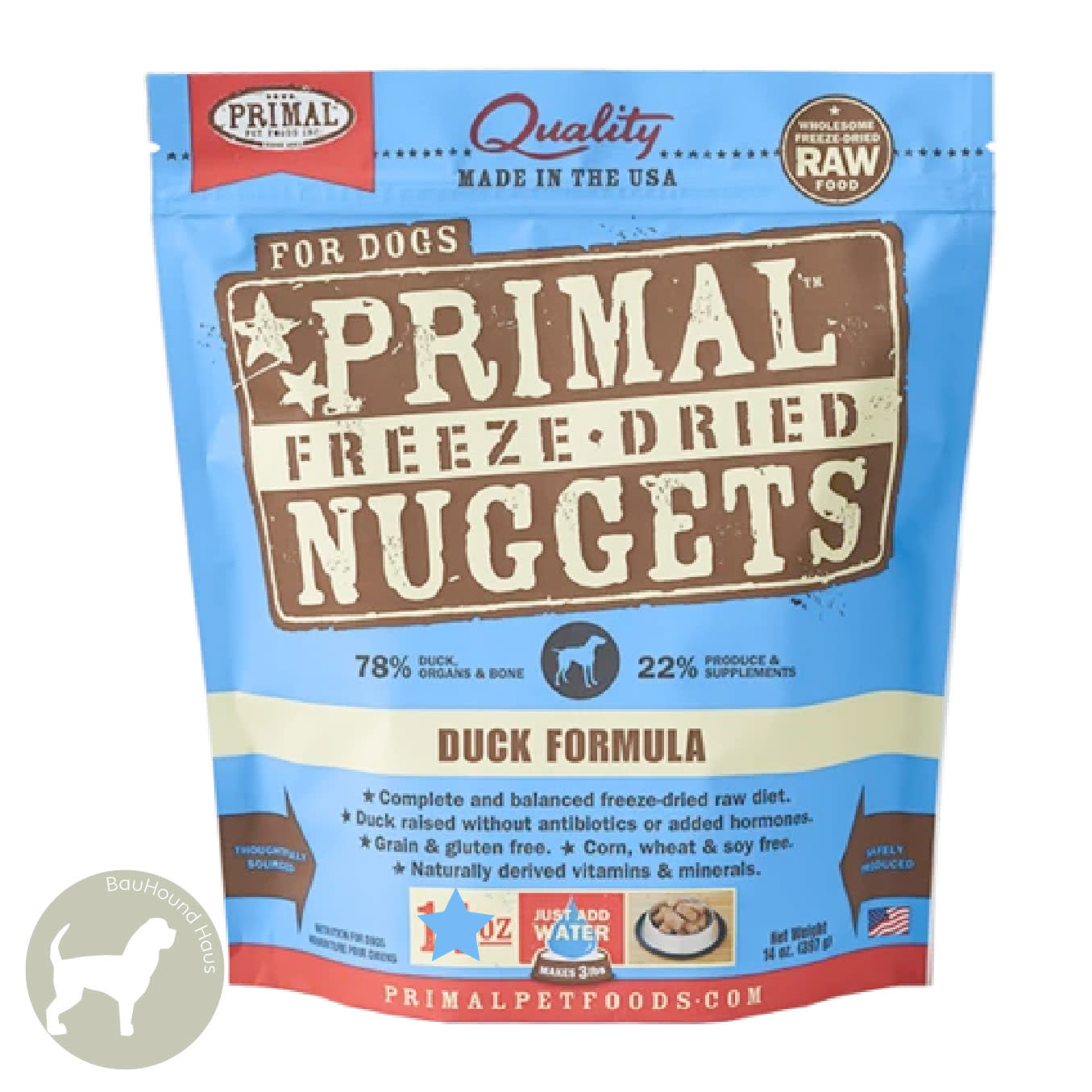 Primal Pet Foods Primal Pet Foods Freeze Dried Formula Duck, 14oz