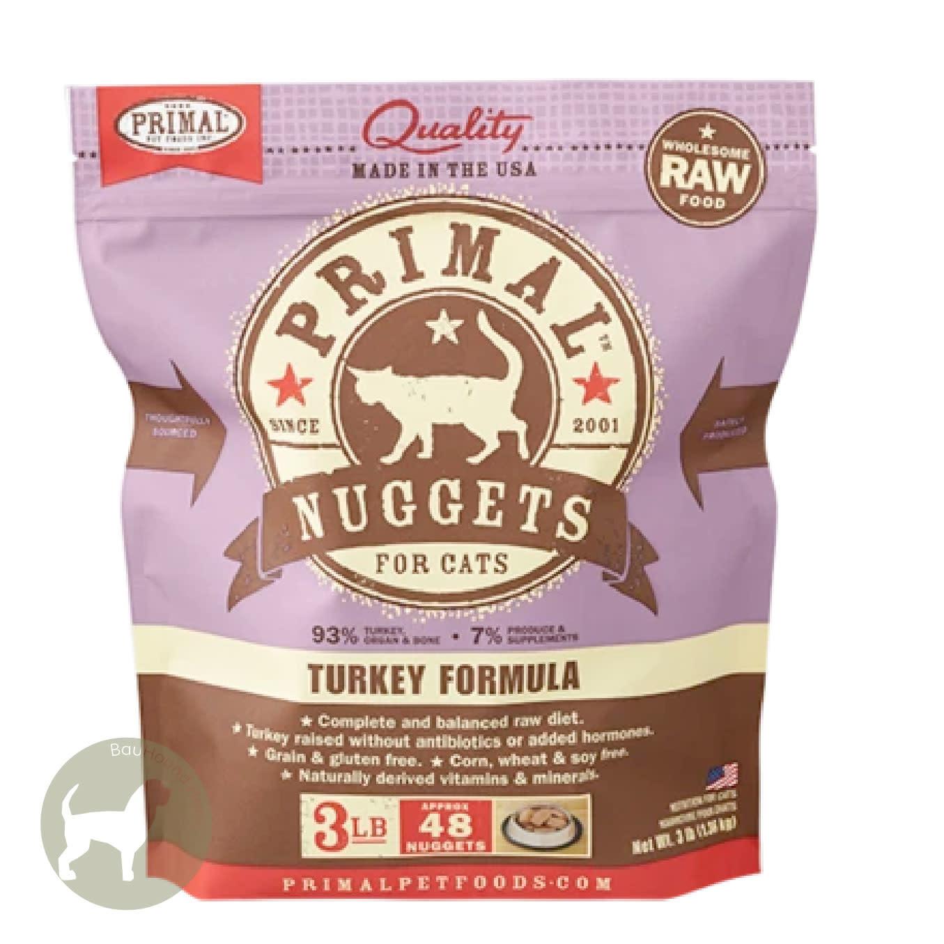 Primal Pet Foods Primal Pet Foods Frozen Turkey CAT, 3lb