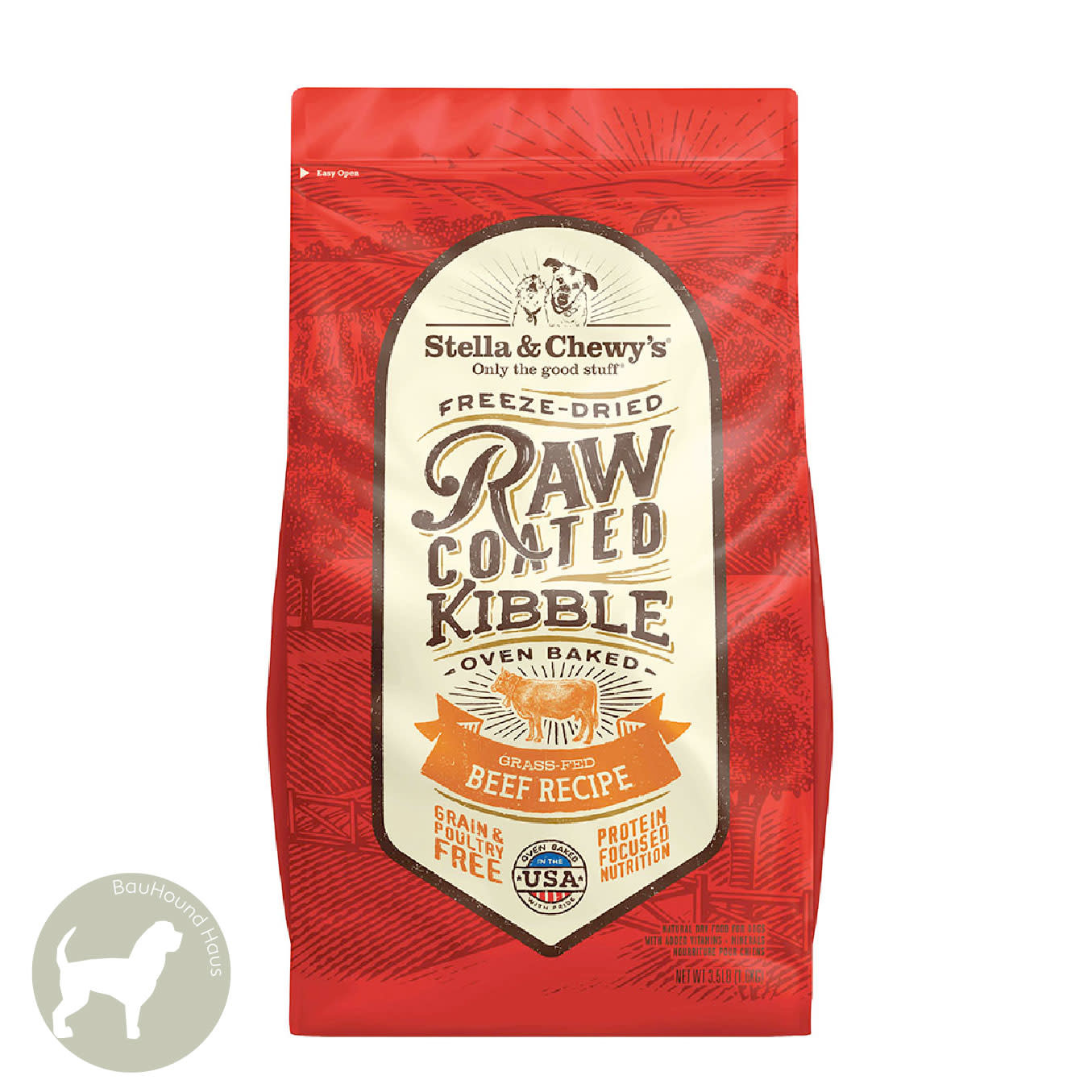 Stella & Chewy's Stella & Chewy's Freeze Dried Raw Coated Kibble Beef Recipe, 10lb