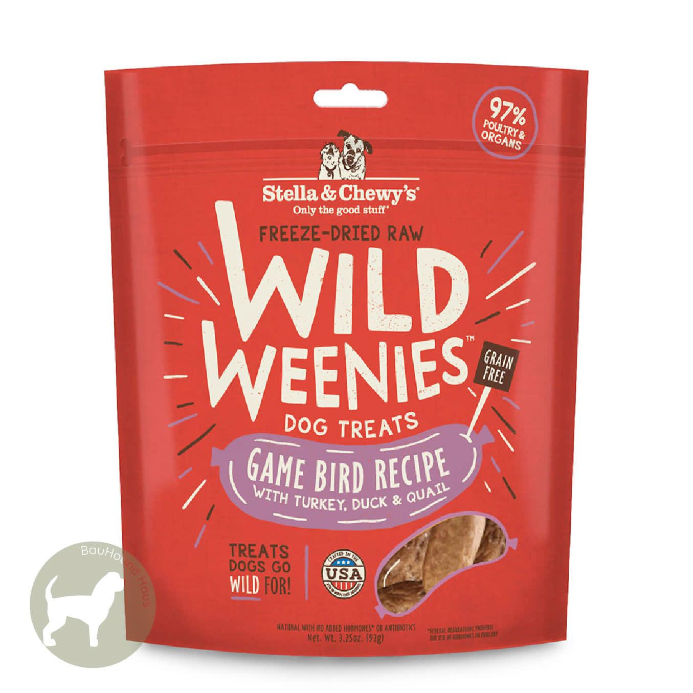 Stella & Chewy's Stella & Chewy's Wild Weenies Dog Treat Game Bird Recipe, 92g