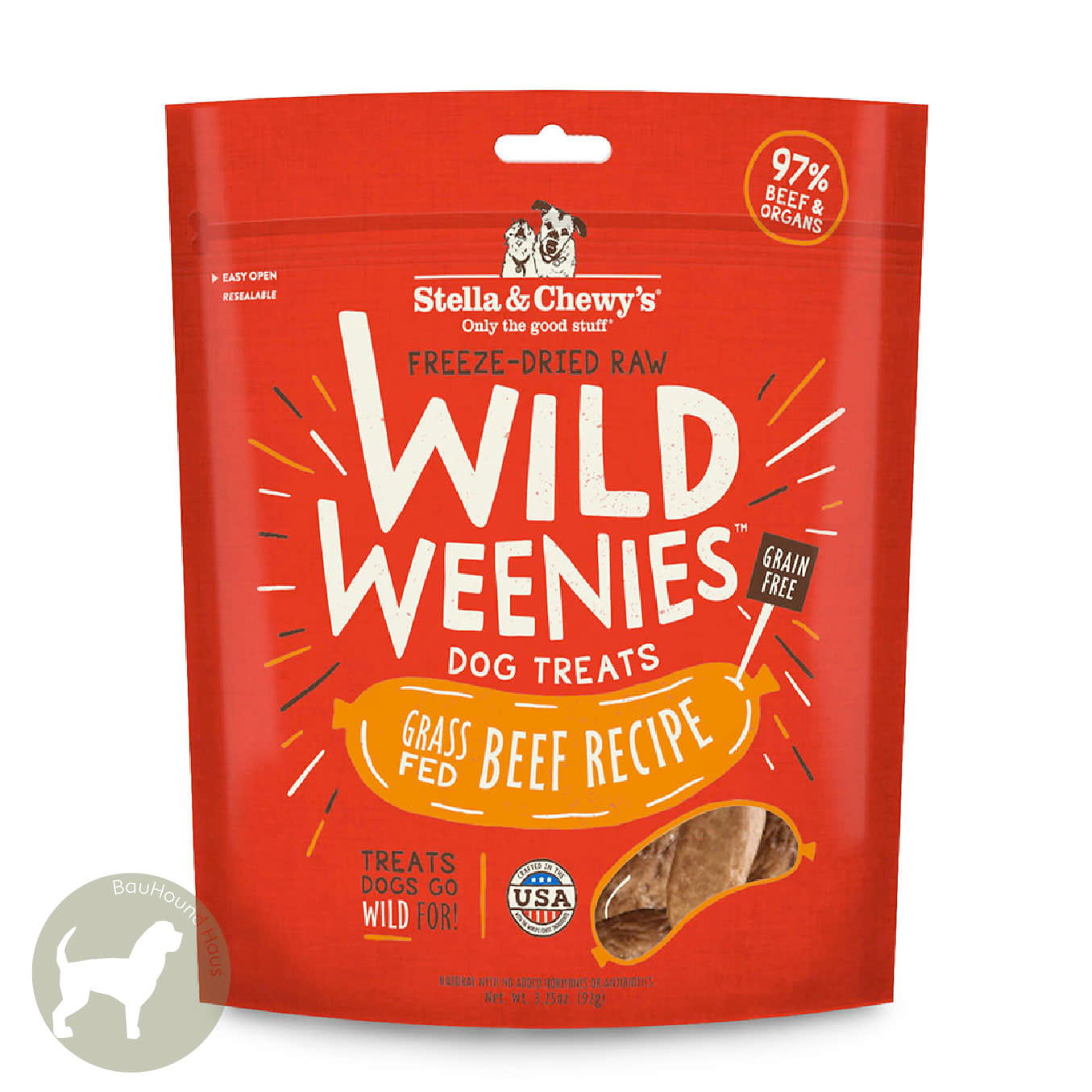 Stella & Chewy's Stella & Chewy's Wild Weenies Dog Treat Grass Fed Beef Recipe, 92g