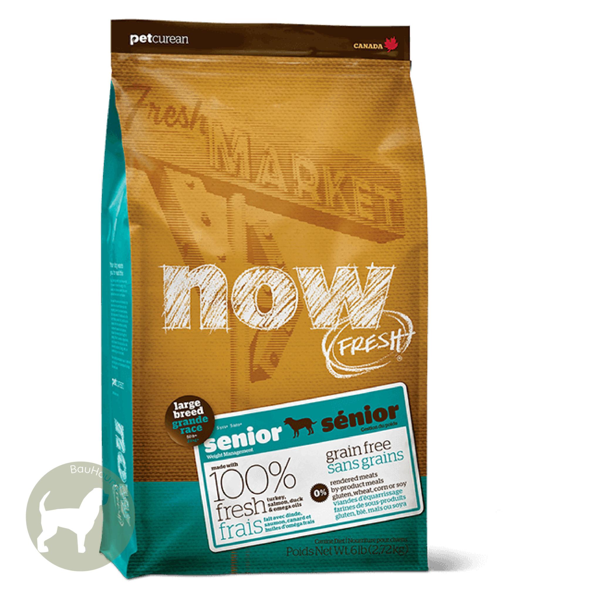 Now! Now! Fresh Large Breed Senior Kibble, 25lb