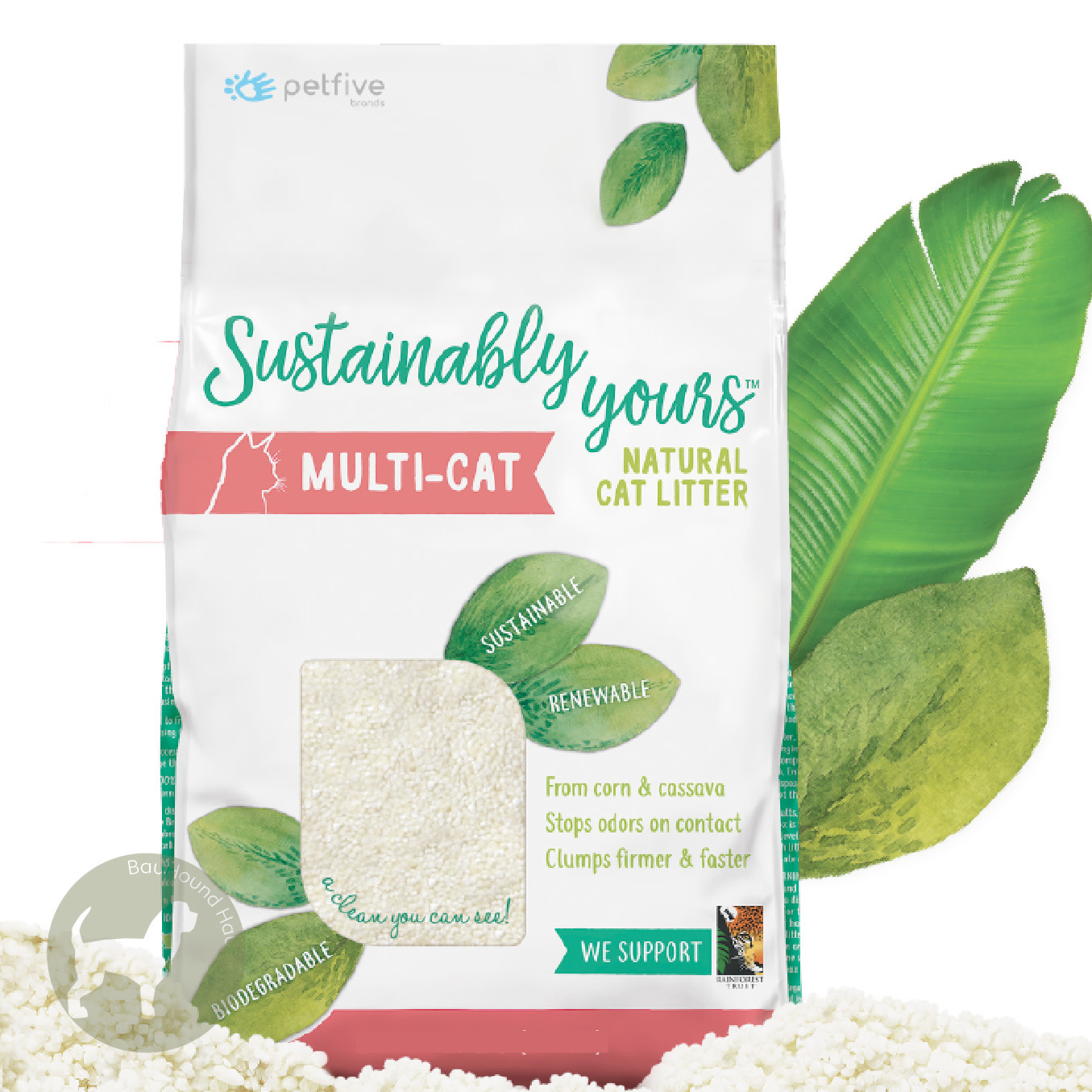 Sustainably Yours Sustainably Yours Multi-Cat Natural Cat Litter, 26lb