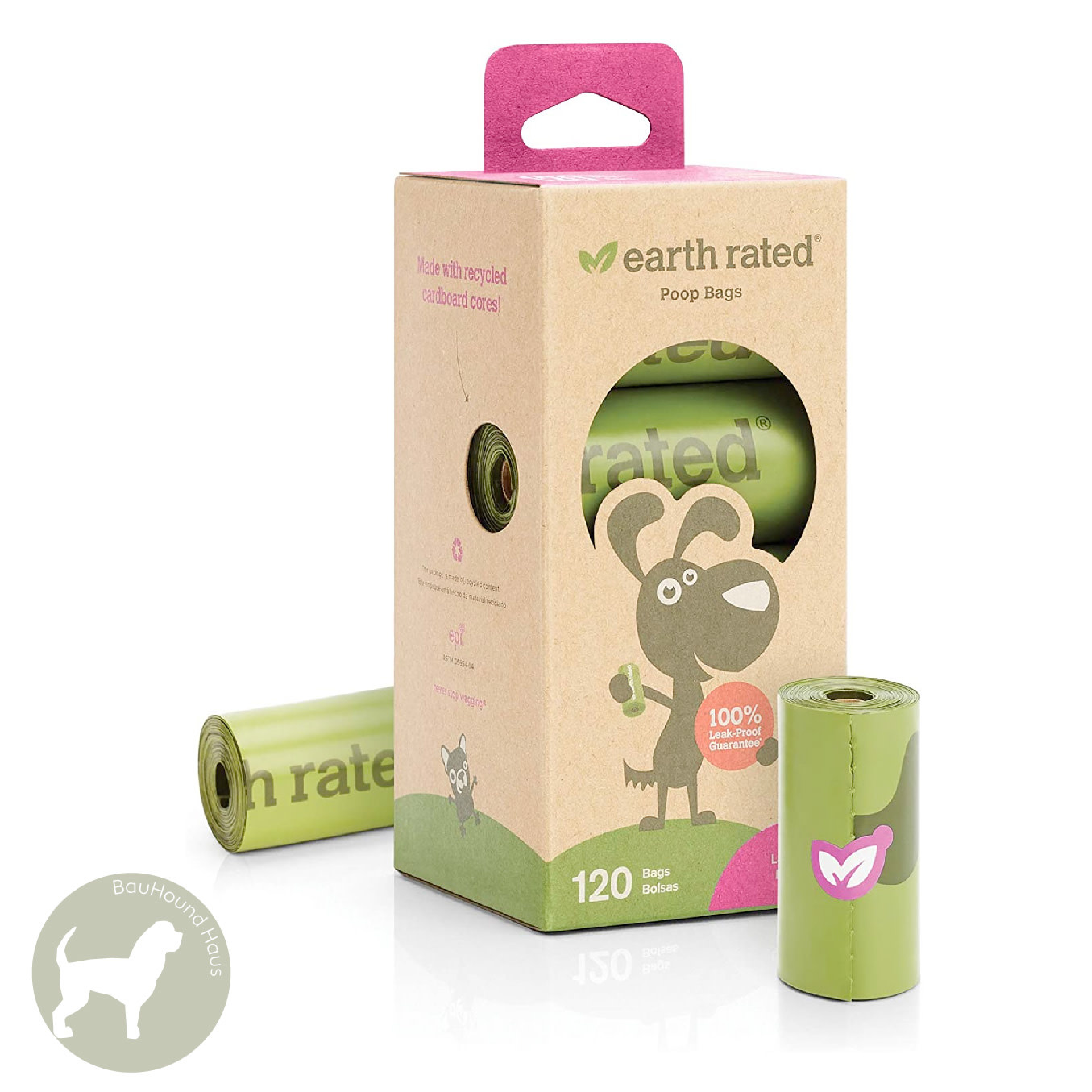 Eco Group Inc Earth Rated Poop Bags Lavender Scented, 8-pack