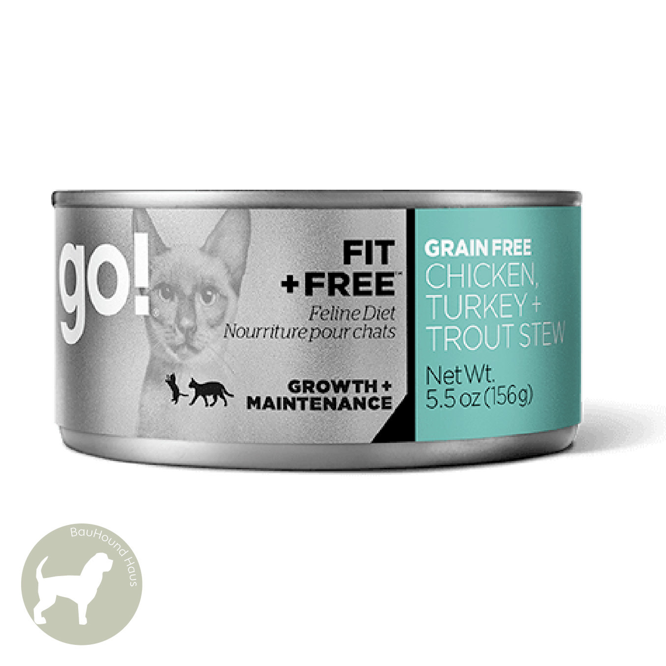 Go! Go! CAT Fit & Free Chicken, Turkey + Trout Can, 5.5oz