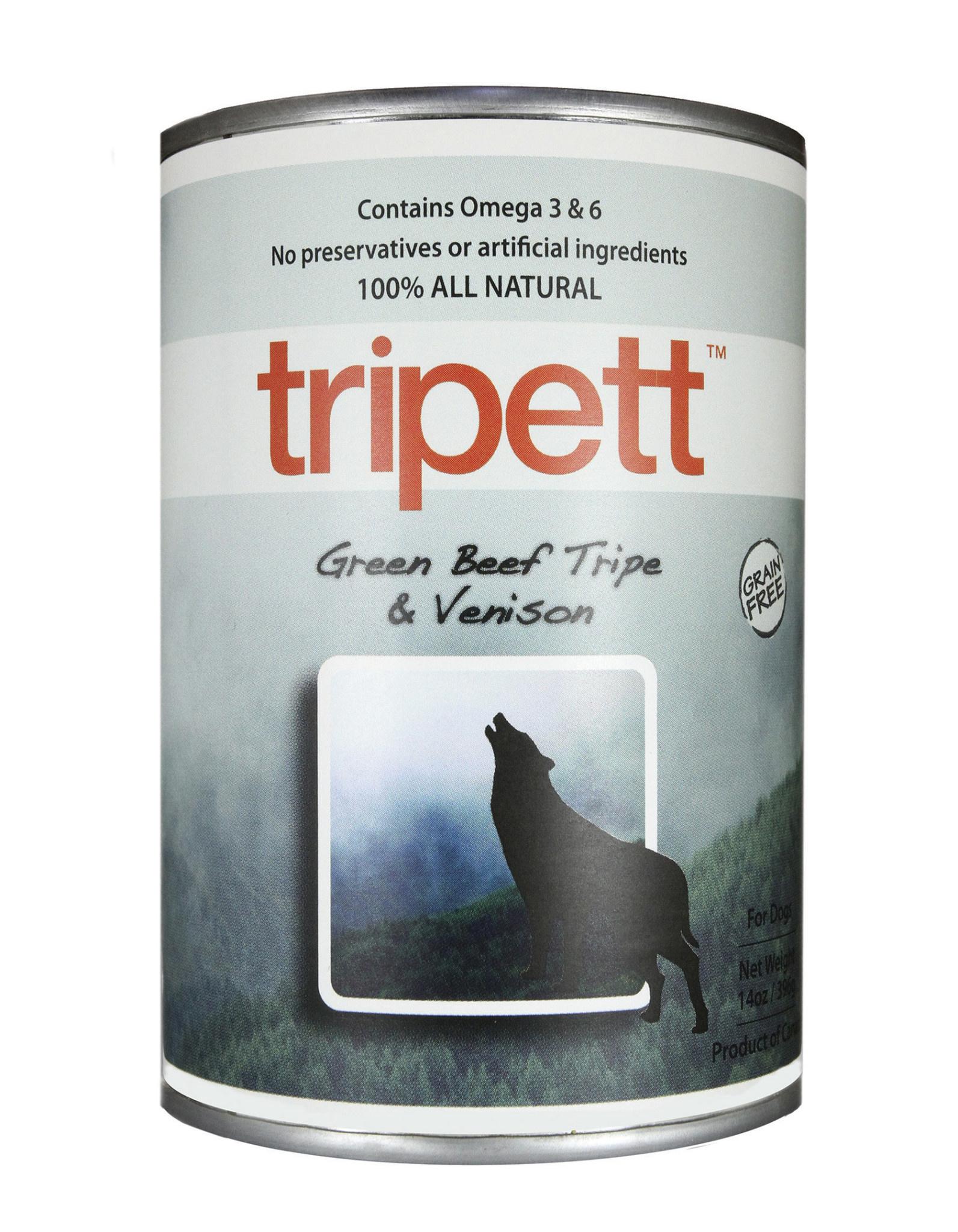 PetKind Tripett Green Beef Tripe & Venison Can, 14oz