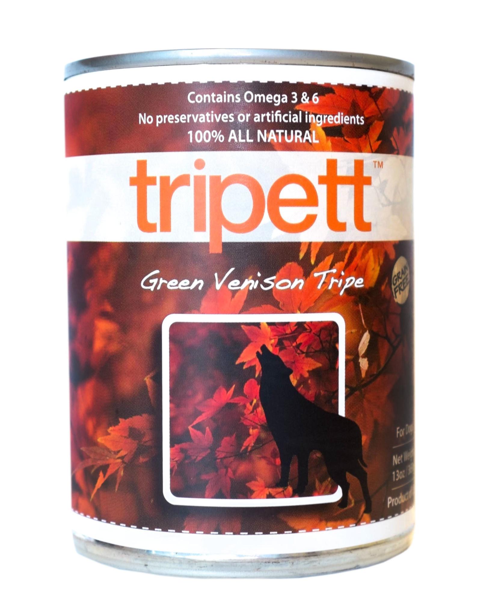 PetKind Tripett Green Venison Tripe Can, 14oz