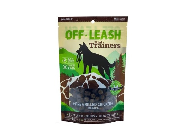 Presidio Presidio Off Leash Training Treats Fire Grilled Chicken, 150g