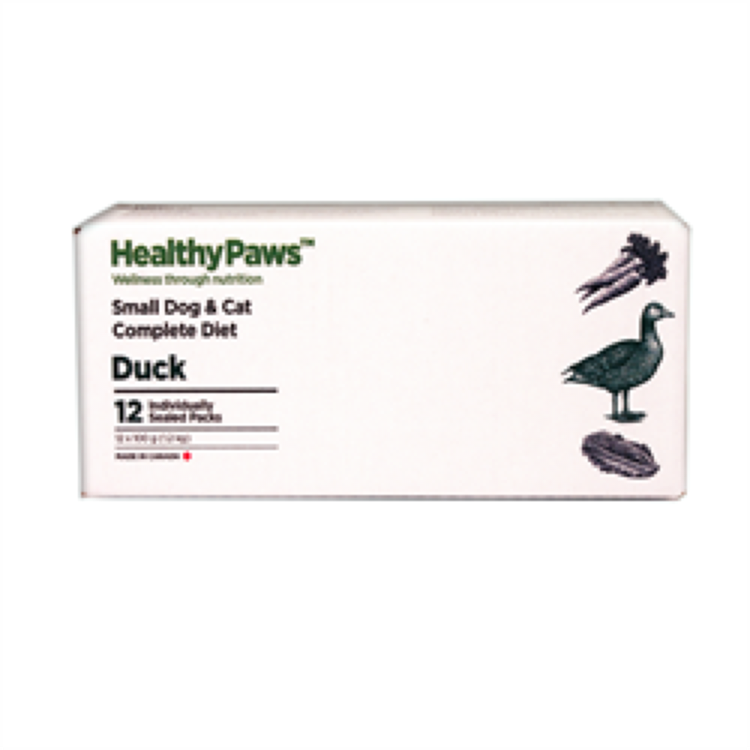 Healthy Paws Healthy Paws Dog & Cat Duck Complete RAW, 2.65lb