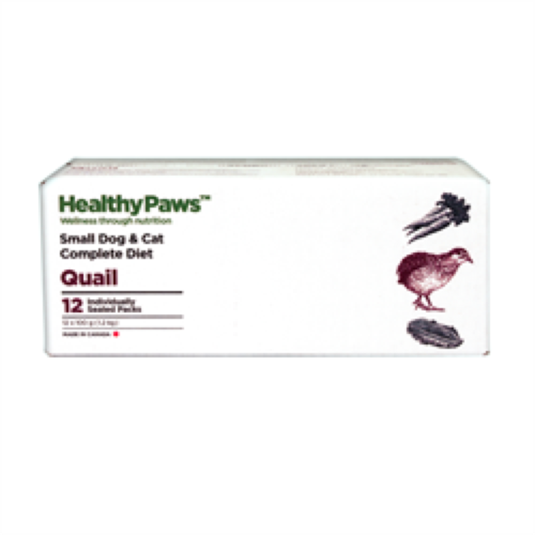 Healthy Paws Healthy Paws Dog & Cat Quail Complete RAW, 2.65lb