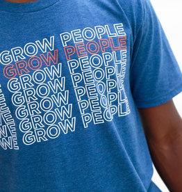 T-SHIRT-BLUE WE GROW PEOPLE