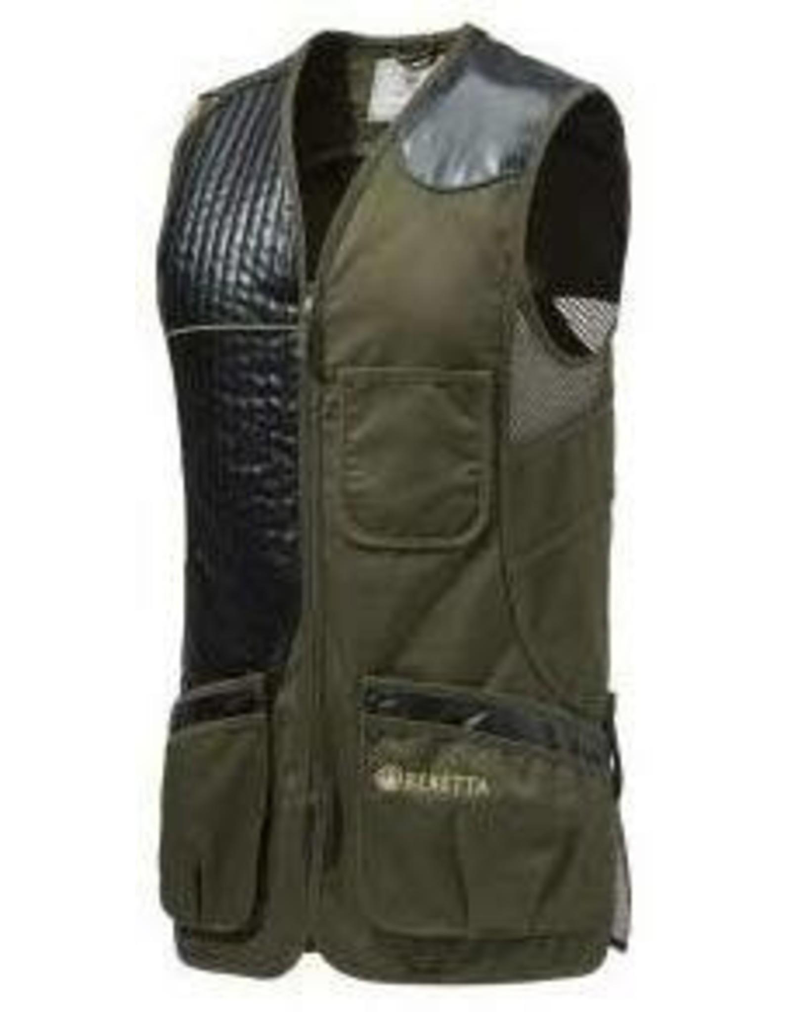 Beretta Beretta Eco Leather Sporting Vest Dark Olive XXXL