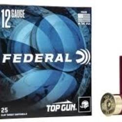 "Federal Top Gun 12GA 2 3/4"" 1200FPS 3 Dram EQ 1 1/8oz 7 1/2 Shot 25x10ct Target"
