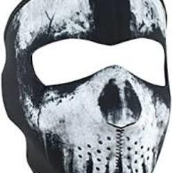 Zan Headgear Skull Ghost Neoprene Face Mask