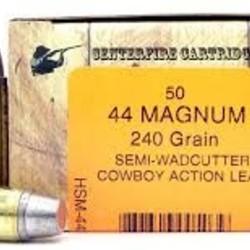 HSM 44Magnum 240GR SWC 50ct