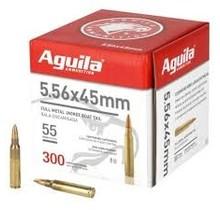 Aguila 5.56x45 FMJBT 55GR Bulk Pack 300 Rounds