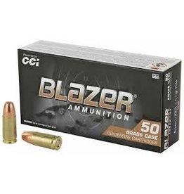 Blazer CCI Blazer Brass Centerfire Pistol Ammo 9mm Luger 50x20ct