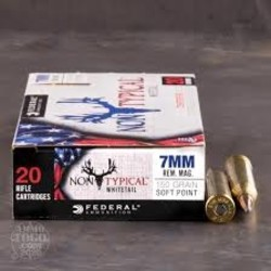 Federal Non-Typical Rifle Ammo 7mm Rem Mag 150GR Point 20Rds